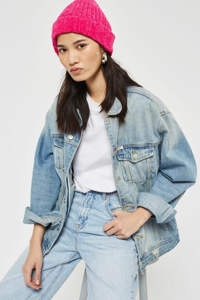 chenille mit jeans