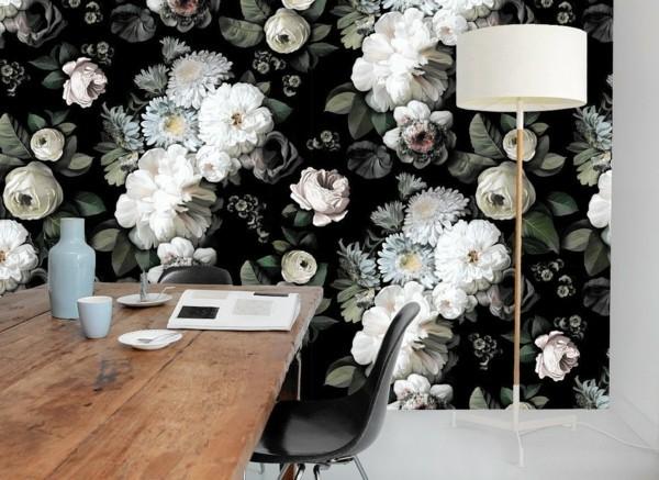 dark floral wanddeko ideen von ellie cashman tapeten