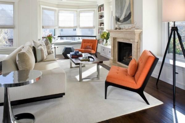 deko trends 2018 wohnzimmer teppich flach weiß