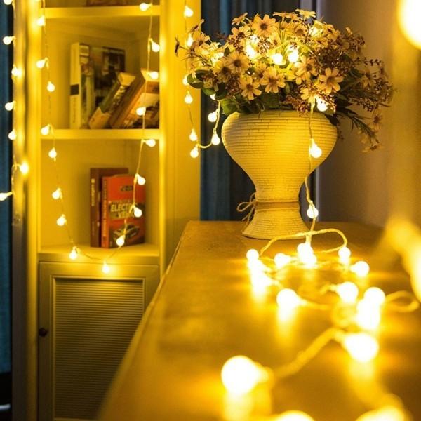 dekoideen mit led lichterketten romantisch dekorieren