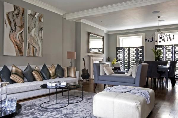 dekokissen ideen dunkle farben gold wohnzimmer