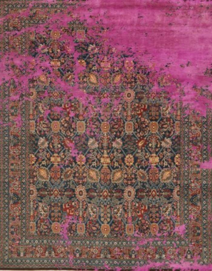 designerteppiche jan kath violett