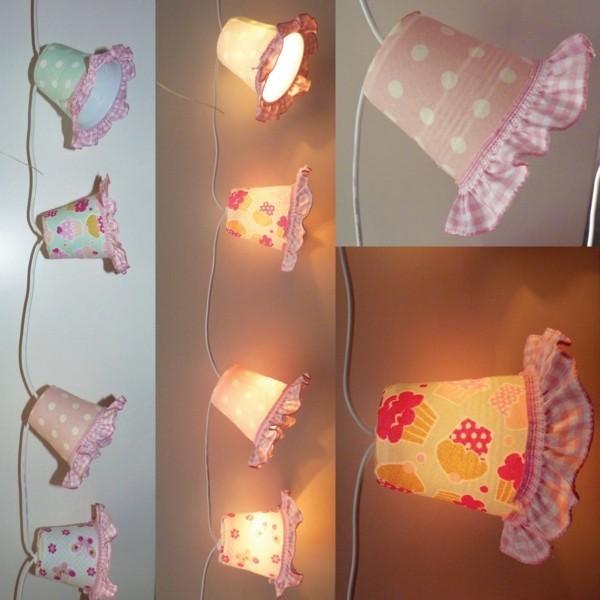 diy lichterketten pappbecker stoff dekoideen