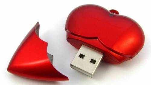 diy valentinsgeschenk diy valentinstag usb stick herz