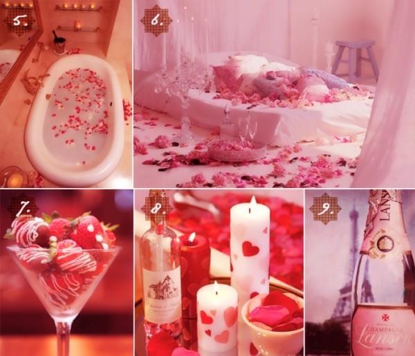 diy valentinstag dekoideen kerzen herzen rosen