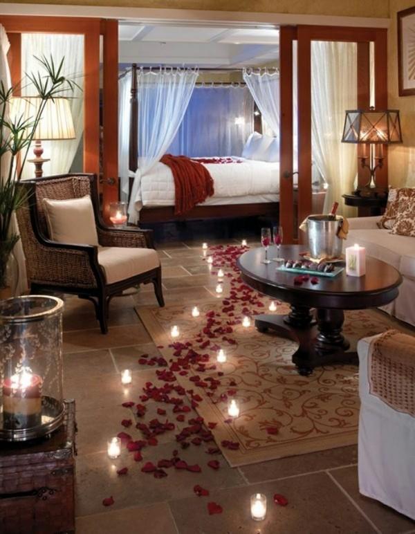 diy valentinstag schlafzimmer dekoration ideen