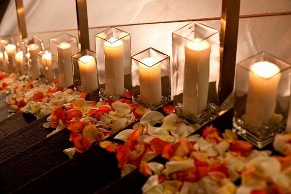 diy valentinstag schlafzimmer dekorieren kerzenlicht treppe dekoidee