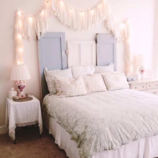 diy valentinstag schlafzimmer dekorieren lichterkette