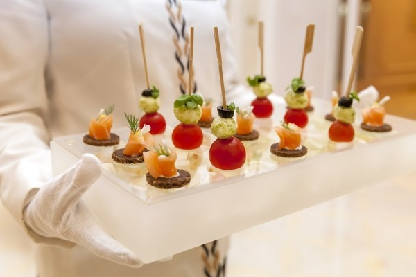 elegante party fingerfood rezepte lachs basilikum