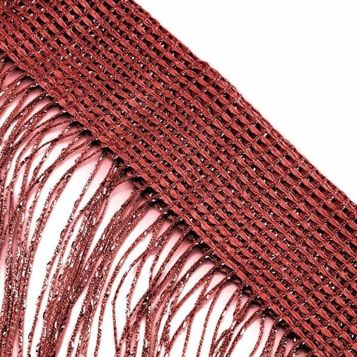 fadengardinen rotes design funktionale dekoideen