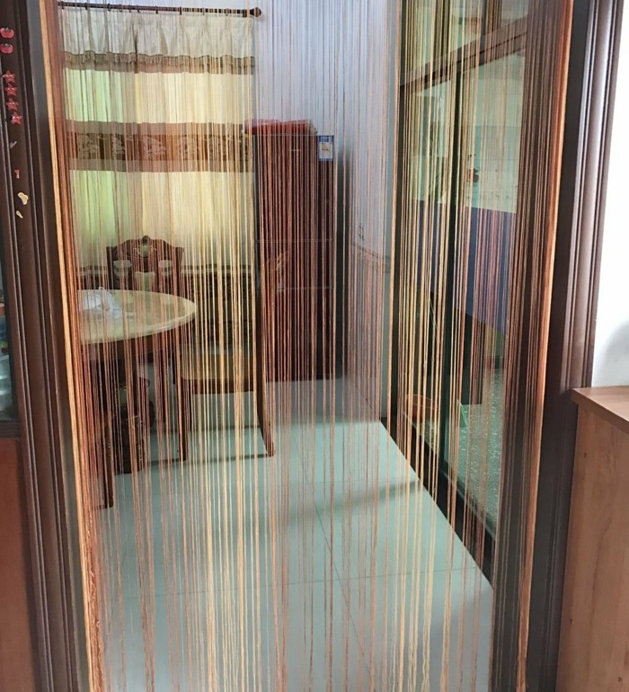 fadengardinen schönes design esszimmer sichtschutz