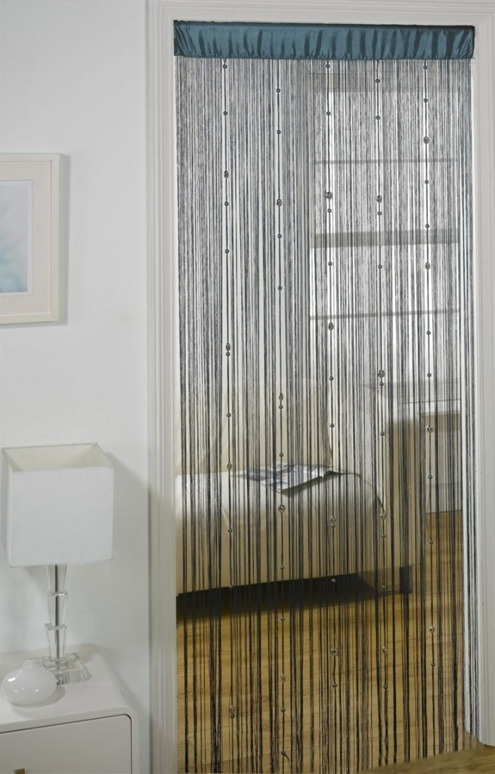 fadengardinen wohnzimmer ideen gemütlich elegant
