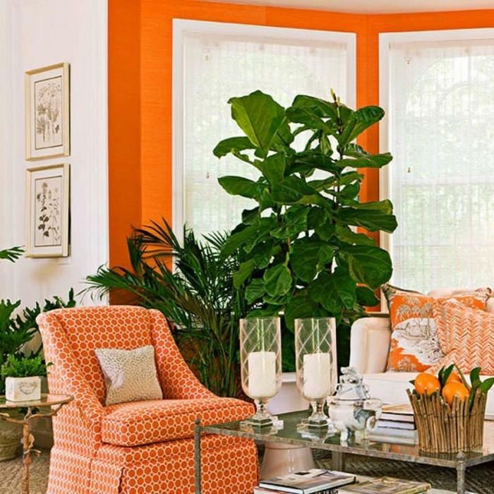 farbgestaltung tangerine trandfarbe hippie
