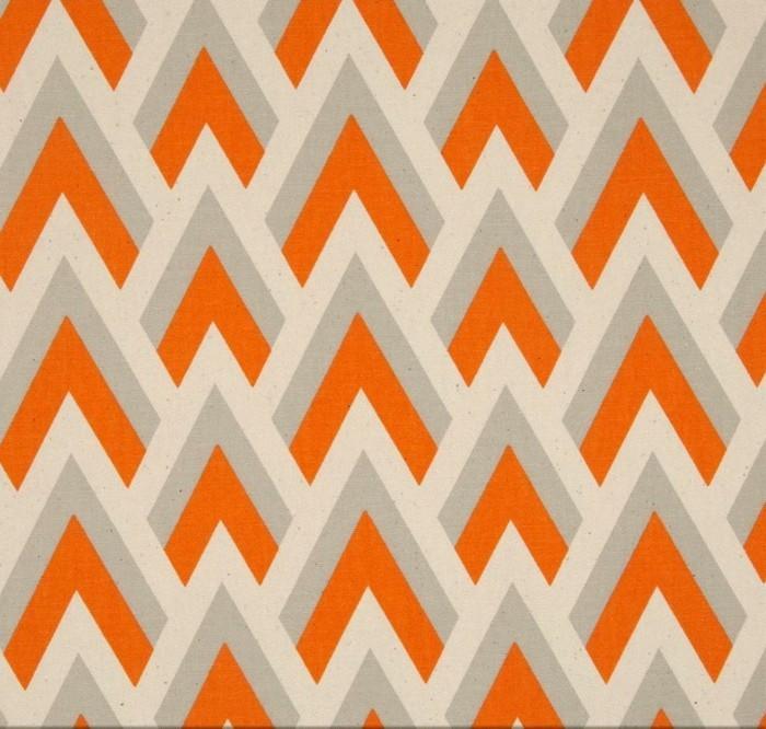 farbgestaltung tangerine trandfarbe muster mit weiss