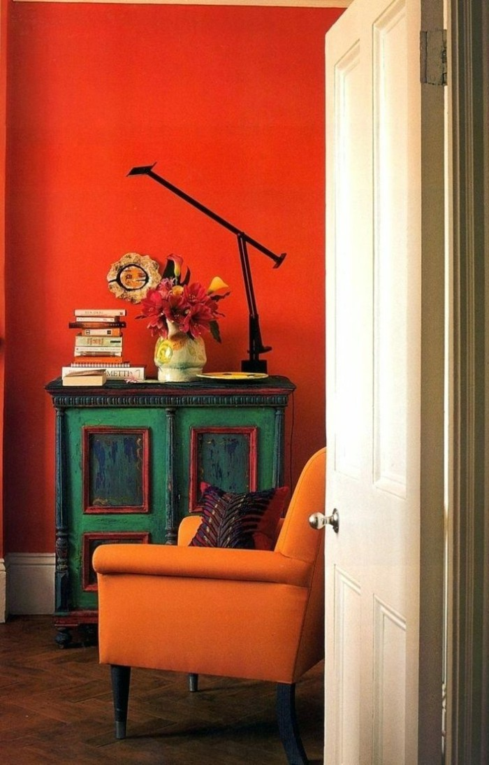 farbgestaltung tangerine trandfarbe orange kontrast