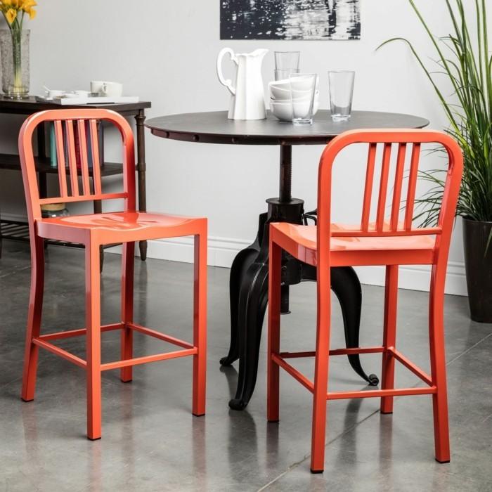 farbgestaltung tangerine trandfarbe orange stuele
