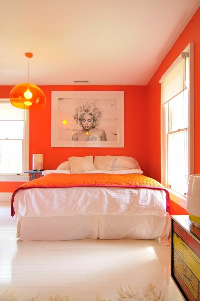 farbgestaltung tangerine trandfarbe sommer ideen 70er aktiv
