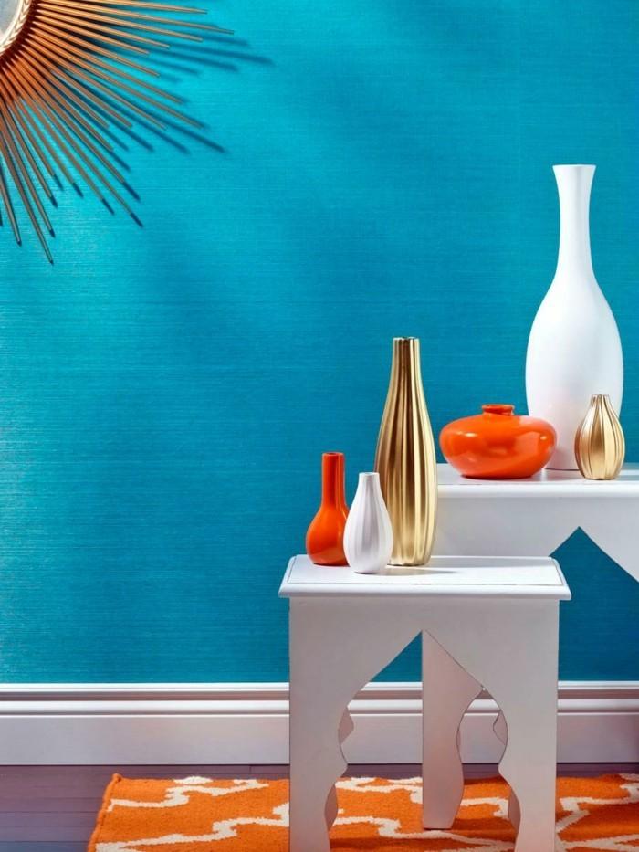 farbgestaltung tangerine trandfarbe sommer ideen