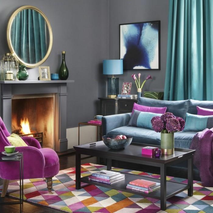 farbtypen farbenwirkung wohnzimmer einrichten