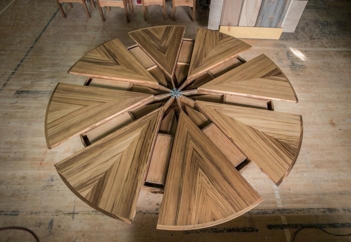 fletcher capstan tisch esstisch rund ausziehba modell
