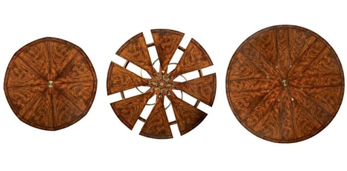 fletcher capstan tisch esstisch rund ausziehbar drehbar
