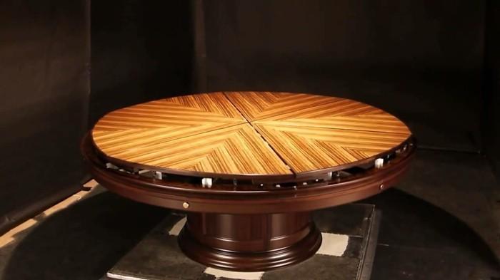 fletcher capstan tisch esstisch rund ausziehbar lack