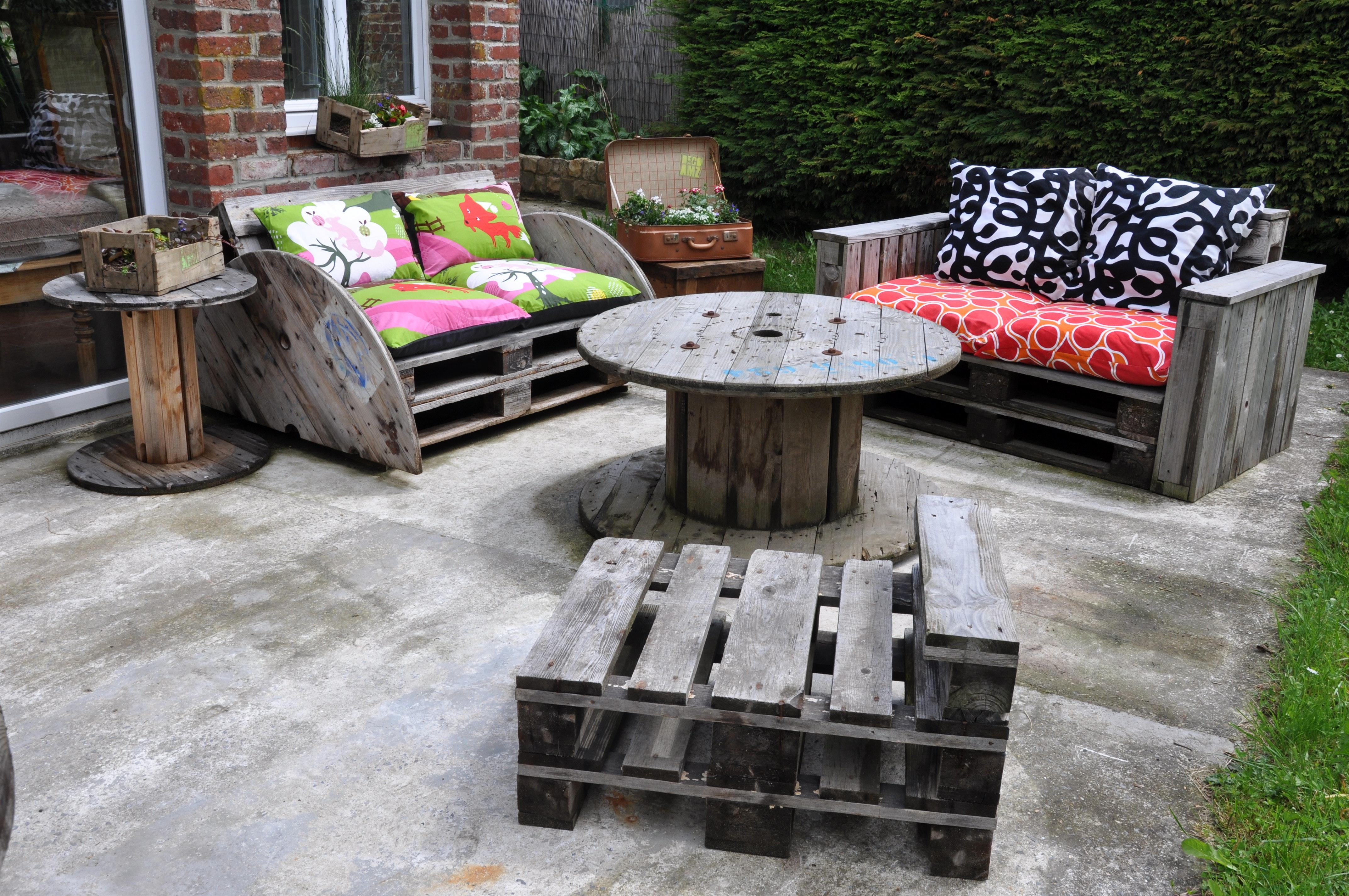 Kreative Gartenmöbel aus Europaletten für eine vielversprechende ...