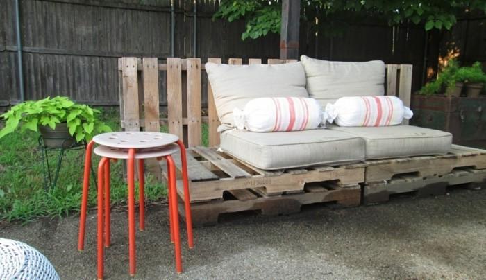 gartenmoebel aus paletten ikea stuhl