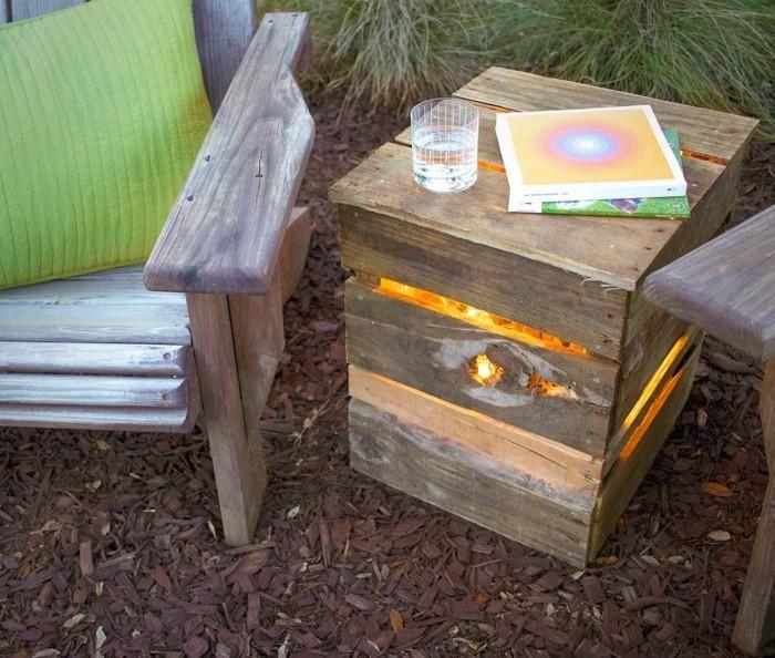 gartenmoebel aus paletten lichtbox