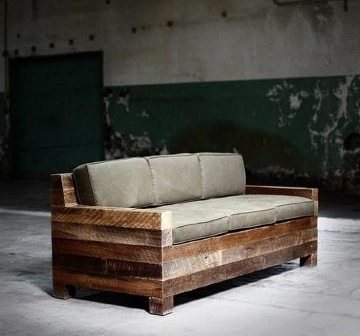 gartenmoebel aus paletten sofa
