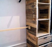 22 DIY Ideen, wie man Garderobe aus Paletten selber bauen kann