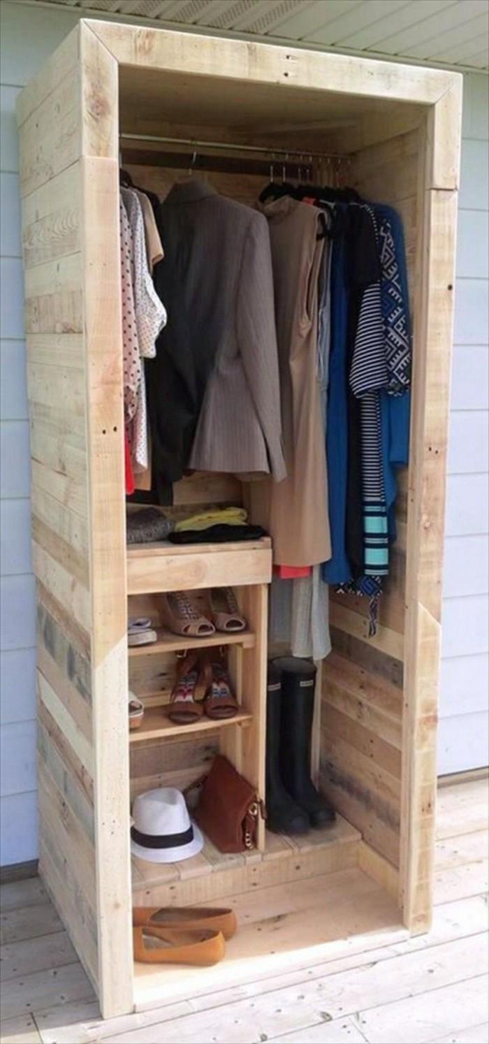 Paletten Garderobe Anleitung 22 diy ideen, wie man garderobe aus paletten selber bauen kann