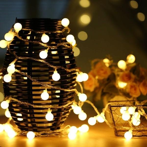 glühbirnen lichterketten dekoideen romantisch dekorieren