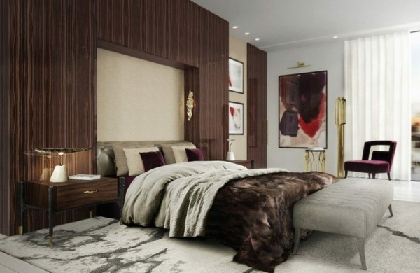 grauer teppich deko trends schlafzimmer