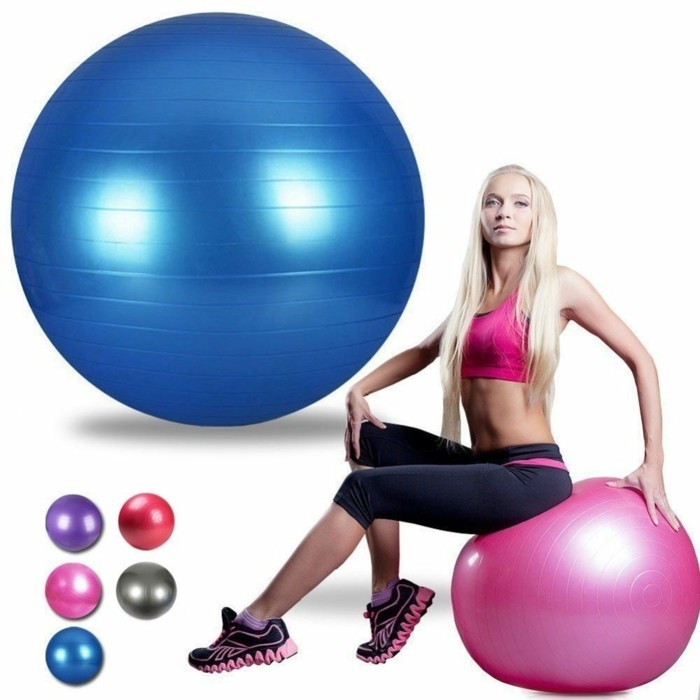 gymnastikball pilatesball yogaball pink blau