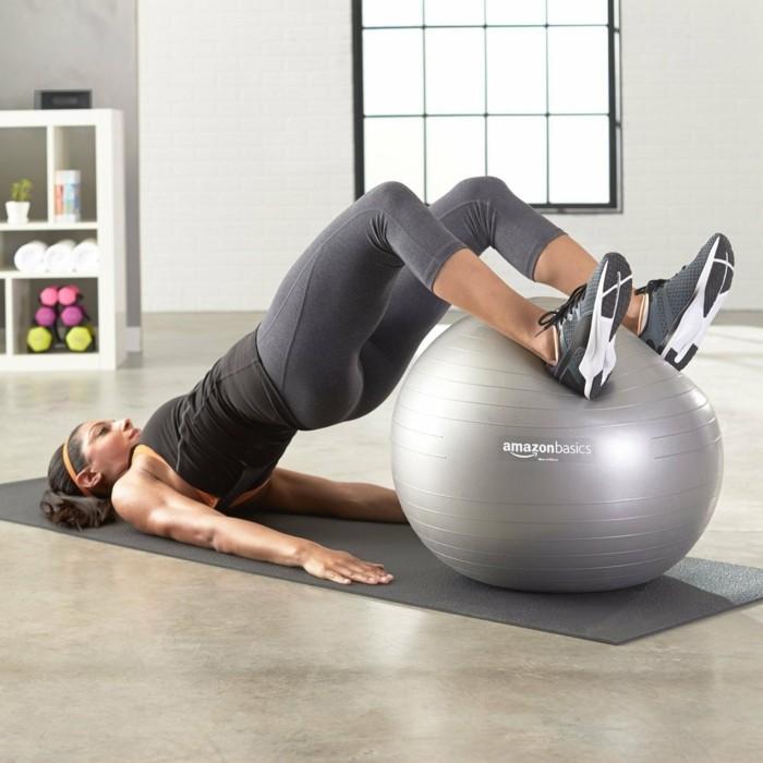 gymnastikball yoga pilatis üben ergonomisch sitzen