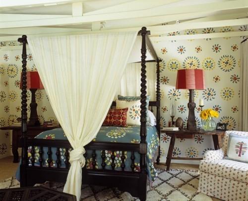 ideen schlafzimmer eklektisch farbig verspielt
