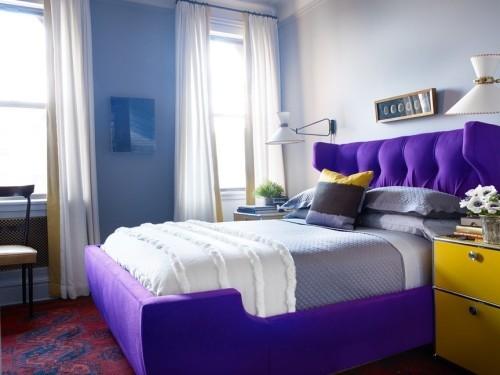 ideen schlafzimmer eklektisch farbige möbelstücke helle wände