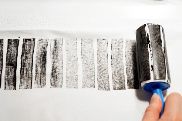 ikea hacks stempelauftragen auf einer weißen fläche
