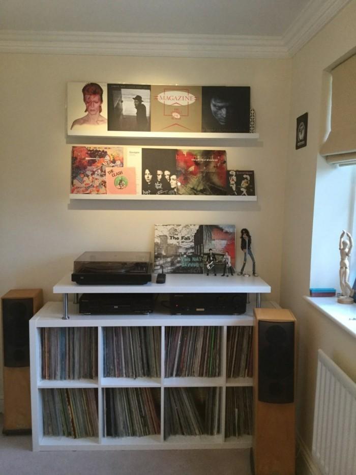 vinyl records ikea shelf kallax closet