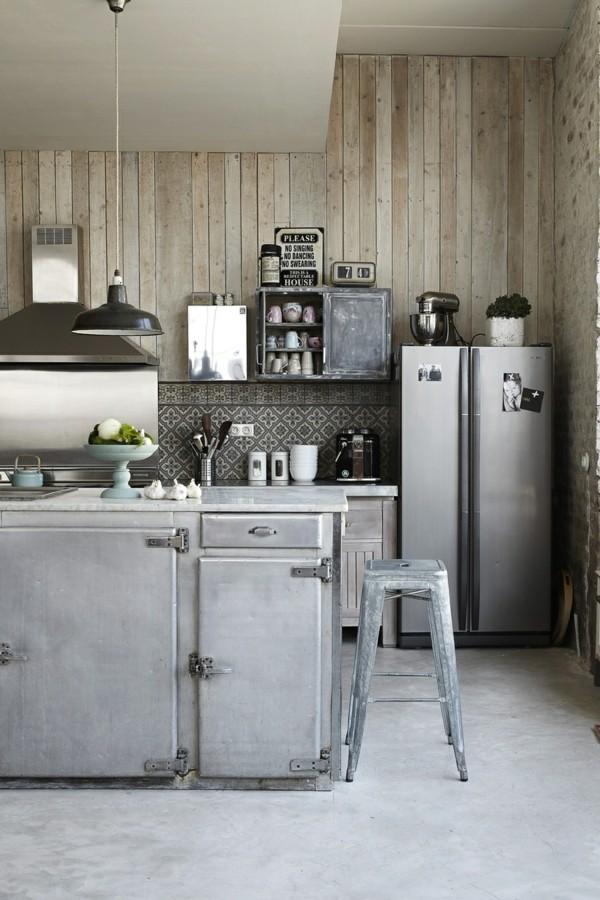 industriestuhl industrielle küche kühle farben