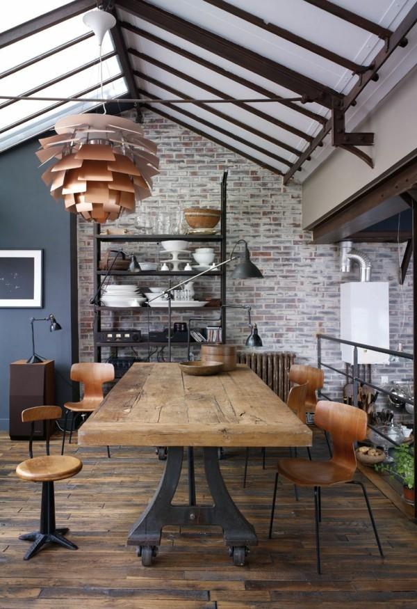 industriestuhl unterschiedliche designs massivholz tisch