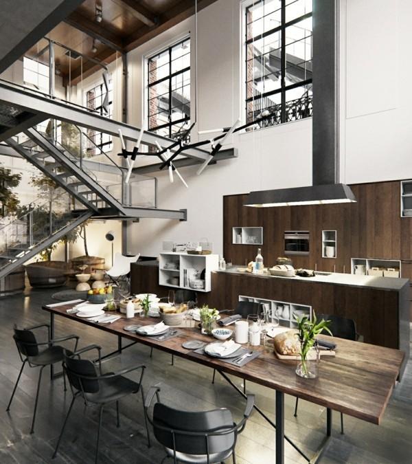 küchen ideen industrielle einrichtungsideen essbereich