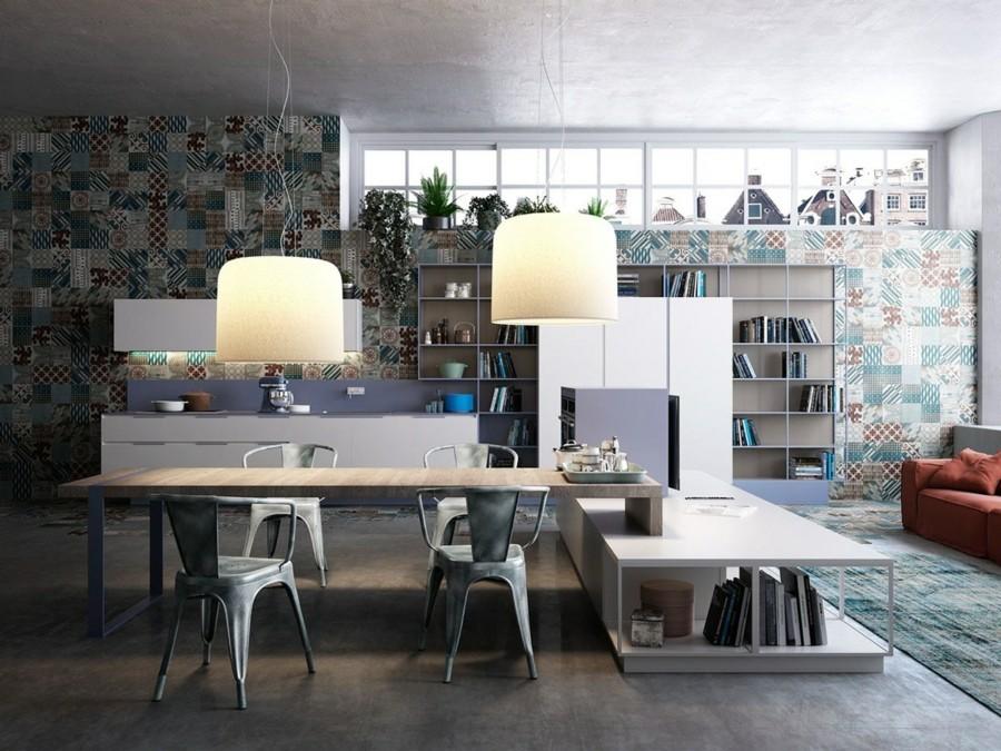 küchen ideen industrielle küche essbereich industrieller boden