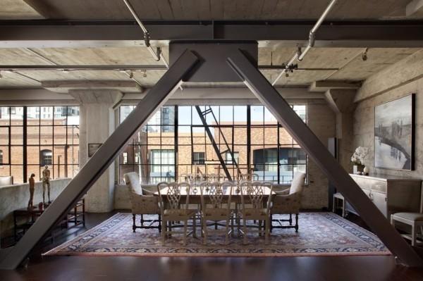 küchen ideen industrieller essbereich stilvolle möbel