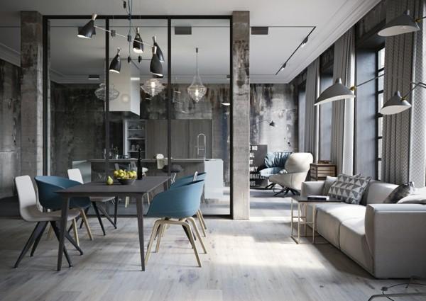 küchen ideen offene wohnküche essbereich offener wohnplan