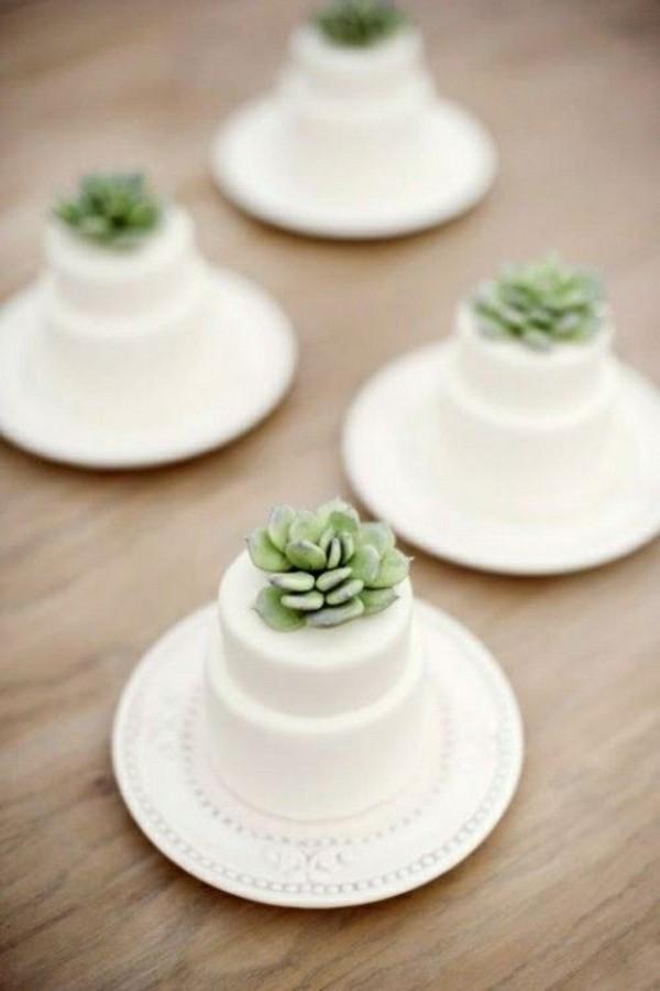 kaktus mini torten für die hochzeit