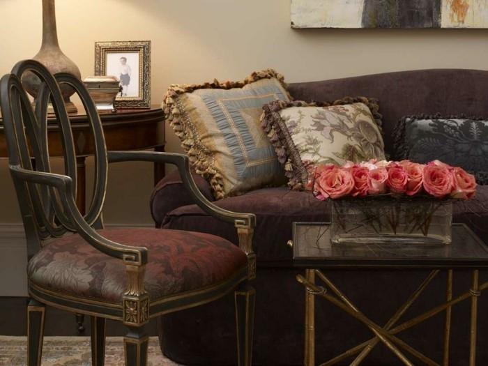 kissen quasten fransen luxus möbel stuhl sofa