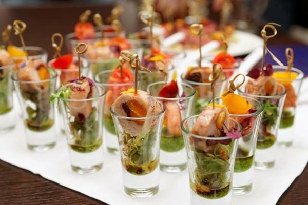 kleine gläser fisch baby spinat party fingerfood