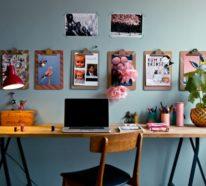 Klemmbrett benutzen für Ihre kreative Wanddeko Ideen